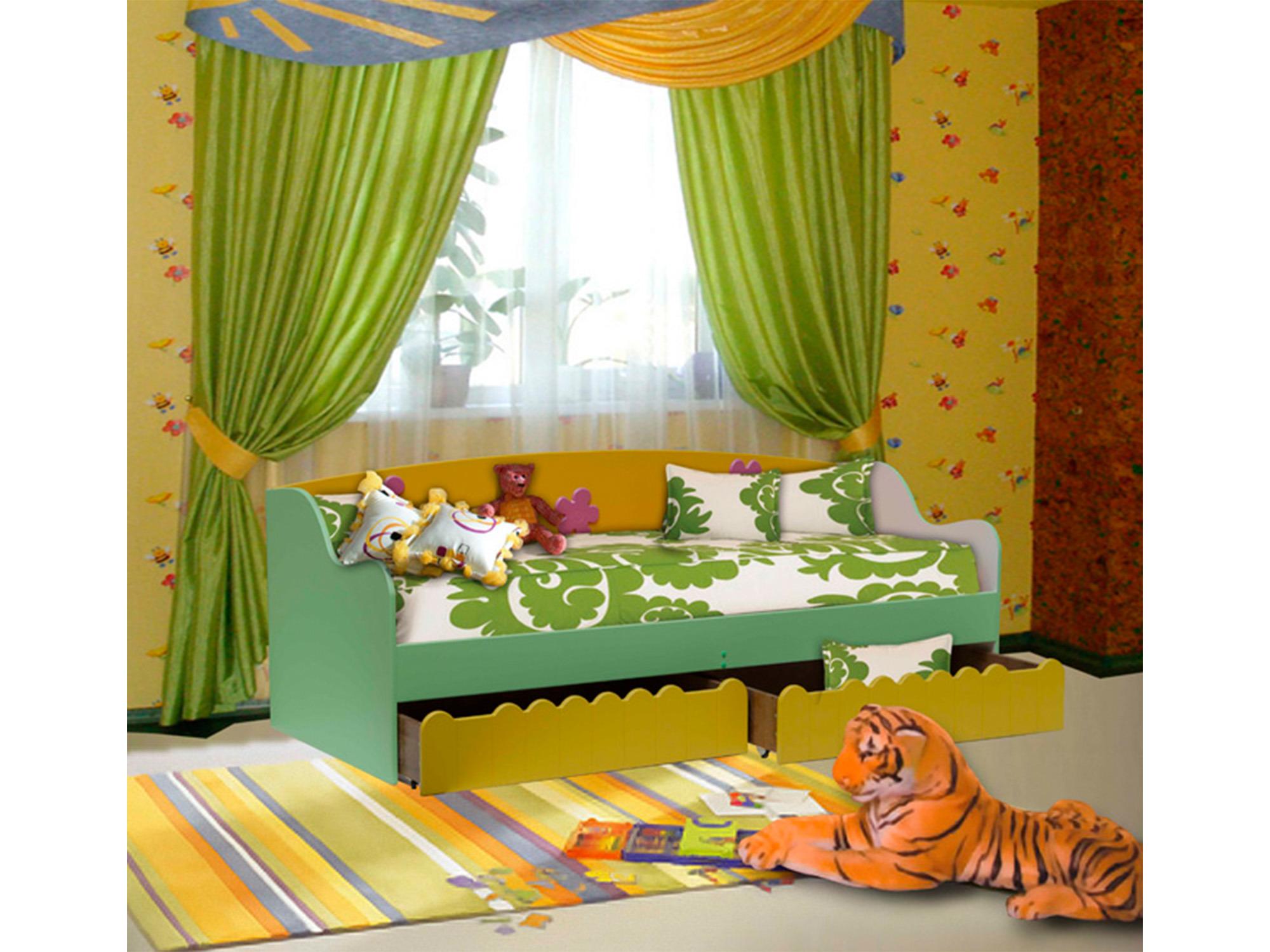 Кровать ЦветочекДетские кровати<br><br><br>Длина мм: 2000<br>Высота мм: 925<br>Глубина мм: 840