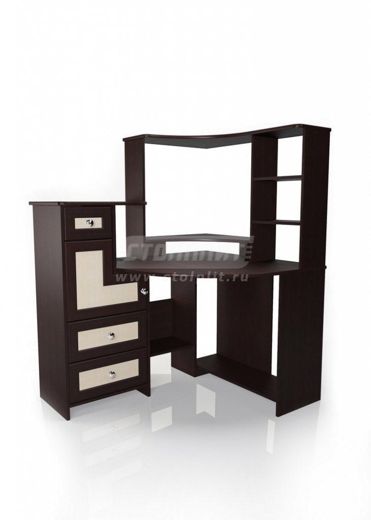 Стол для компьютера МБ – 7Компьютерные столы<br><br><br>Длина мм: 1240<br>Высота мм: 1470<br>Глубина мм: 1000