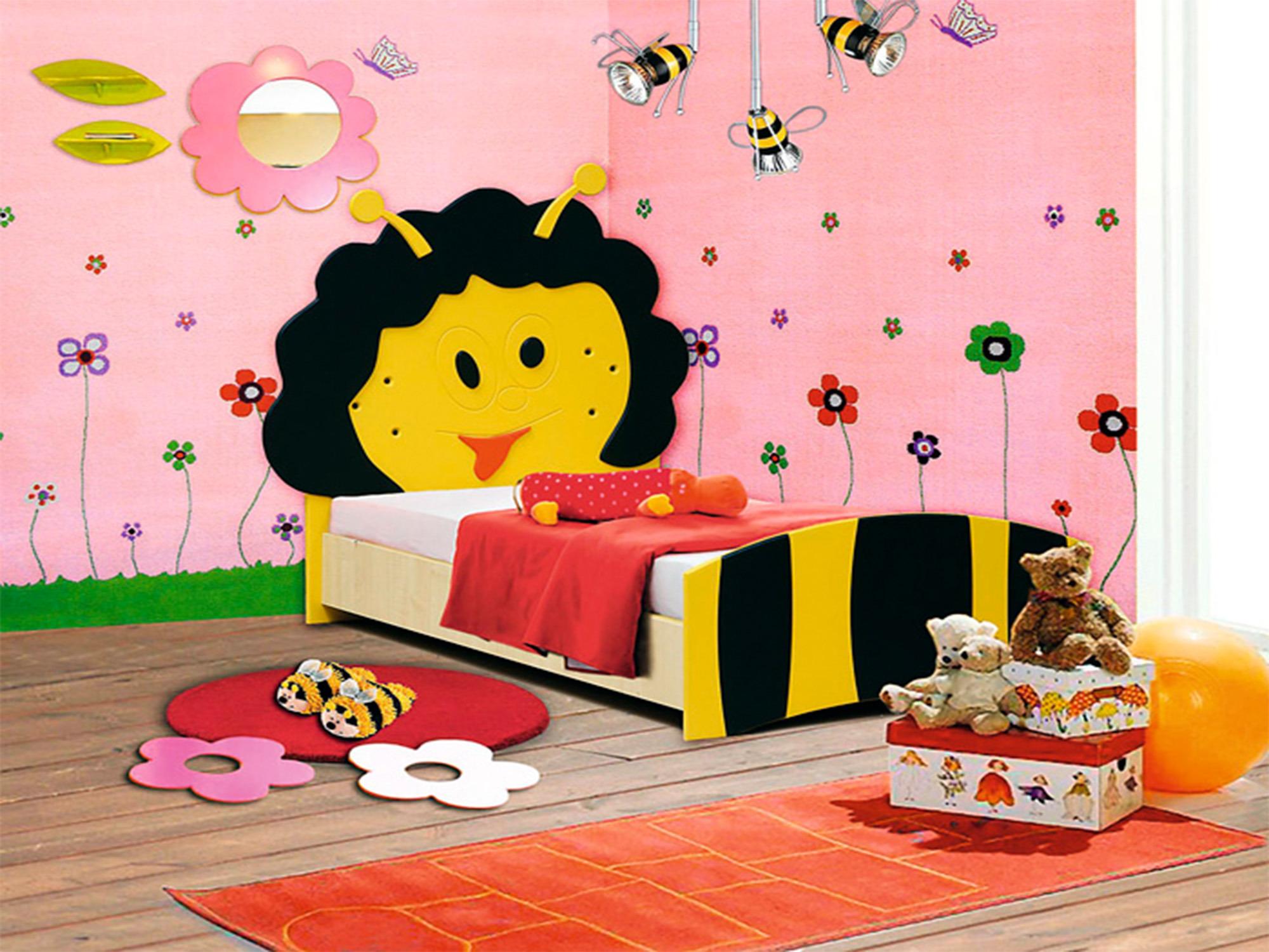 Кровать ПчелкаДетские кровати<br><br><br>Длина мм: 1090<br>Высота мм: 1100<br>Глубина мм: 1740