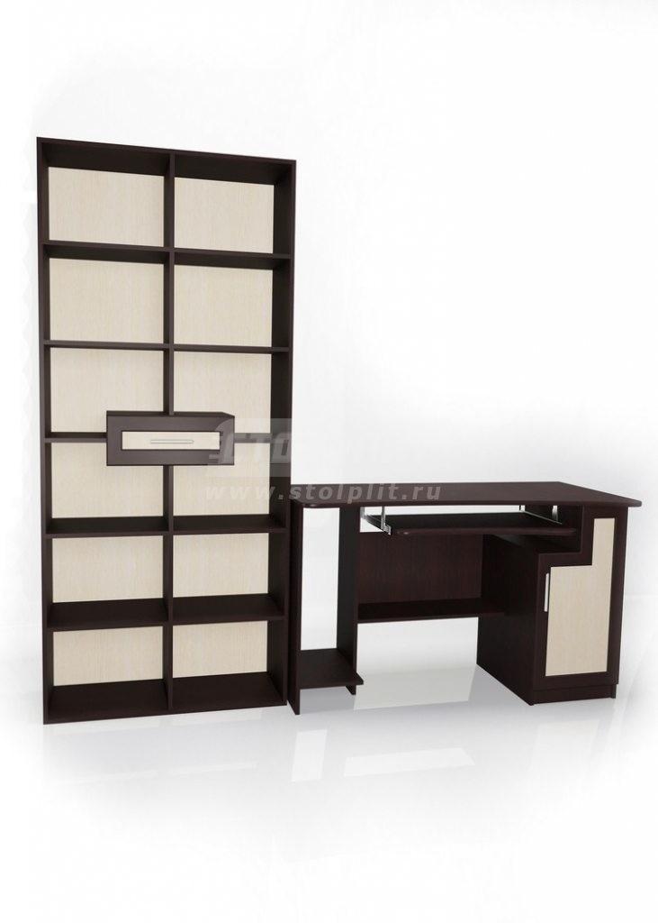 Стол для компьютера МБ – 3Кабинет<br><br><br>Длина мм: 2250<br>Высота мм: 2052<br>Глубина мм: 650