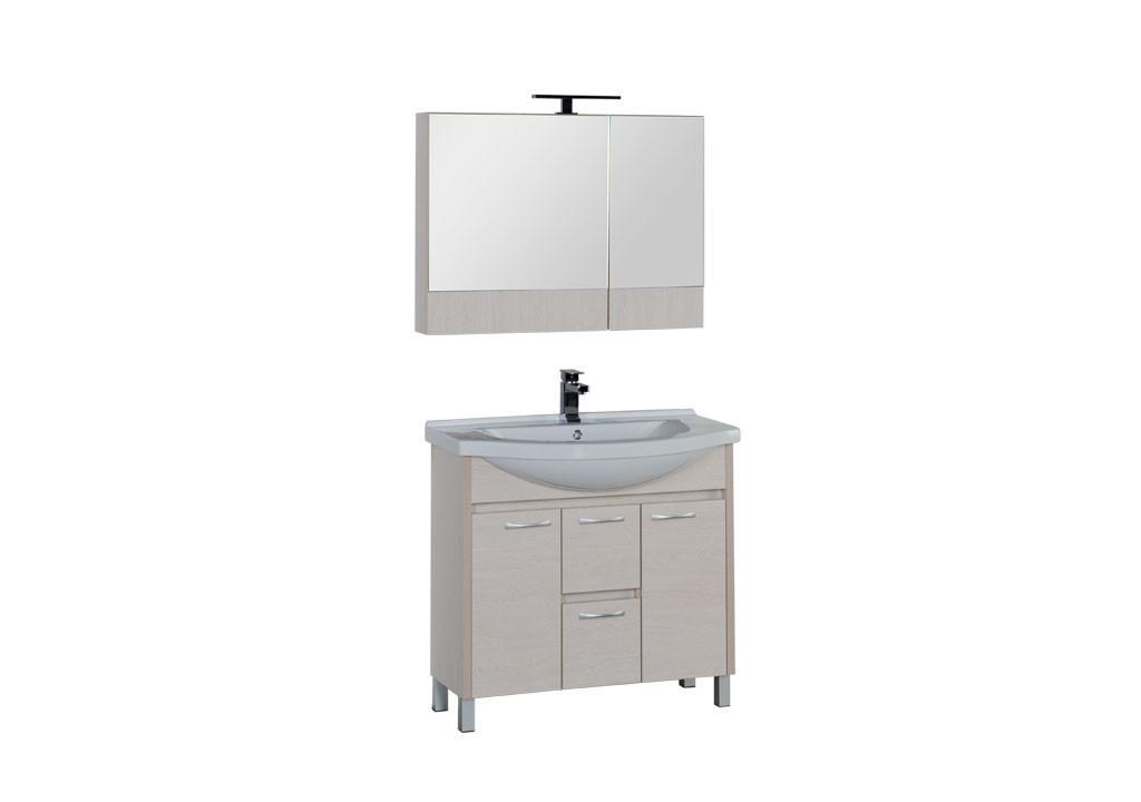 Комплект мебели Aquanet Донна 90 белый дуб (камерино)Комплекты мебели для ванной<br><br><br>Длина мм: 0<br>Высота мм: 0<br>Глубина мм: 0<br>Цвет: Белый дуб