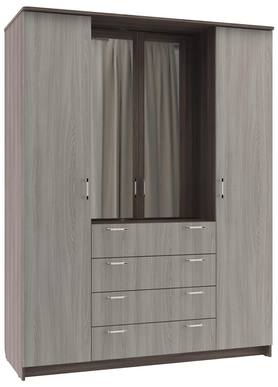 Шкаф шкаф-комод 4-х створчатый без зеркалаШкафы<br><br><br>Длина мм: 1600<br>Высота мм: 2100<br>Глубина мм: 650