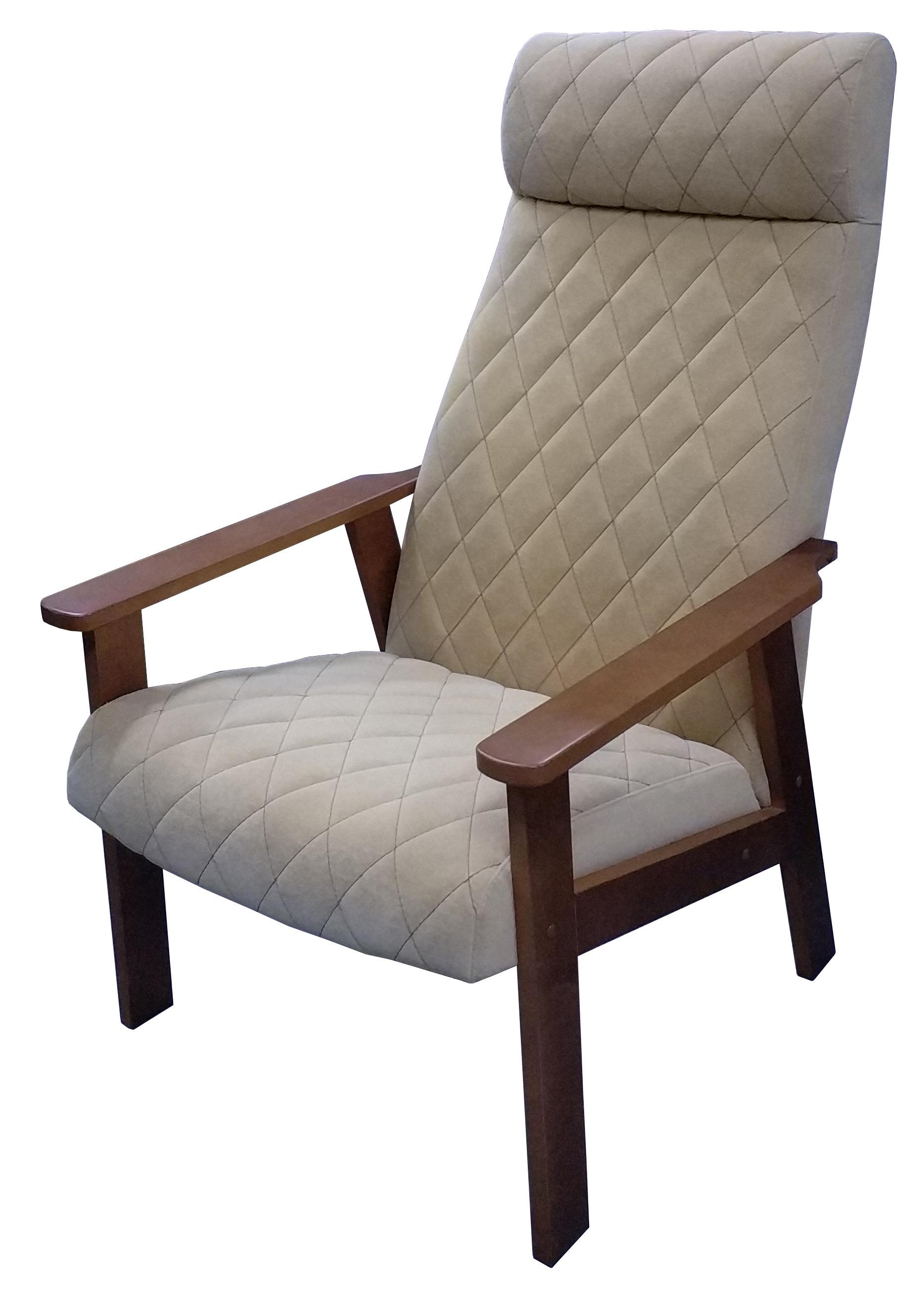 мягкие кресла Кресло для отдыха Вилора с прострочкой, Орех, Bolero silk bone