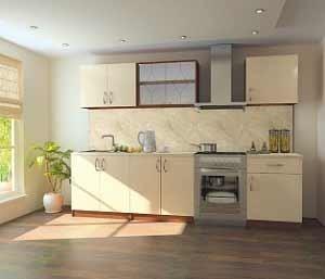 Лаконичный набор стильной мебели для кухни. 2200 x 820 x 600