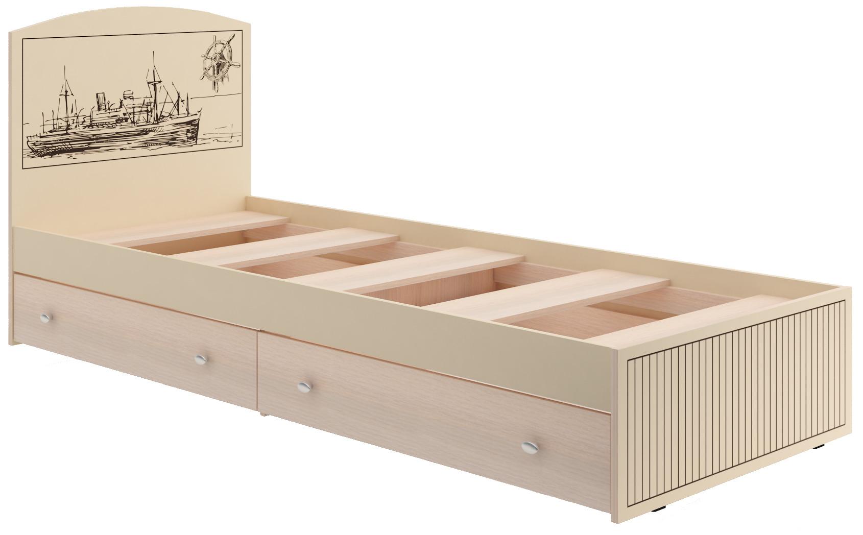 Кровать КР-26 МаякКровати одноярусные<br><br><br>Длина мм: 2030<br>Высота мм: 900<br>Глубина мм: 840