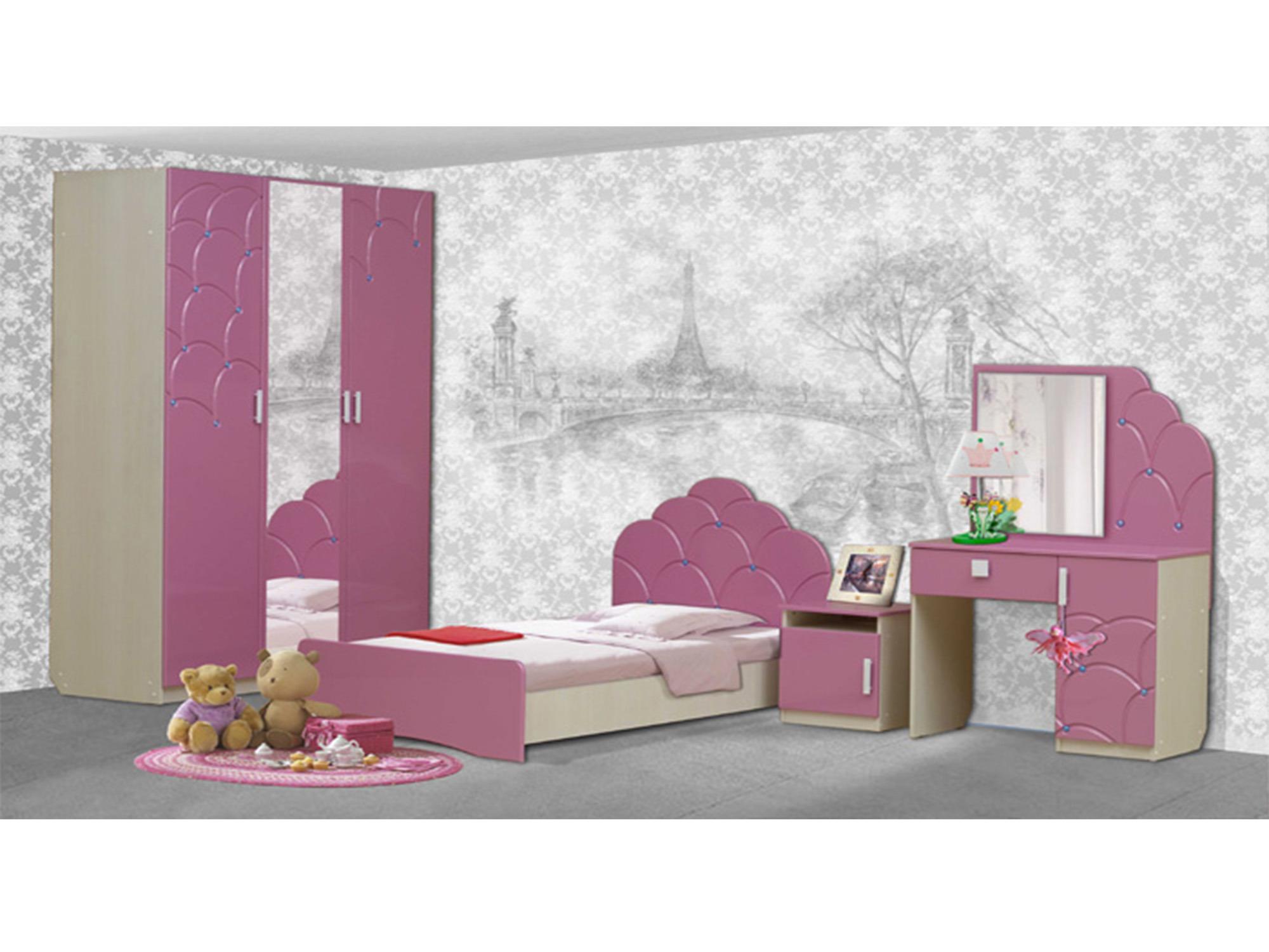 Набор мебели МальвинаДетские комнаты<br><br><br>Длина мм: 3790<br>Высота мм: 2100<br>Глубина мм: 520