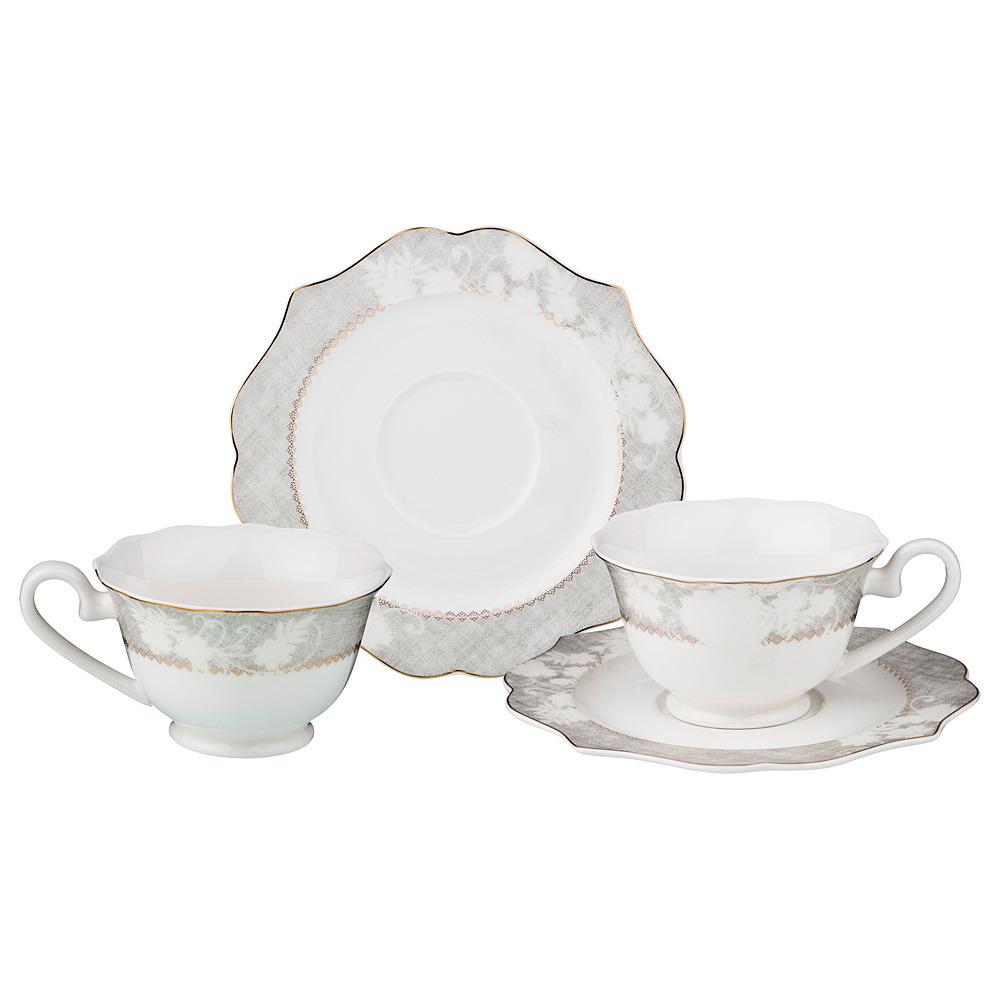 Чайный набор на 2 персоны 4 предмета 170 мл