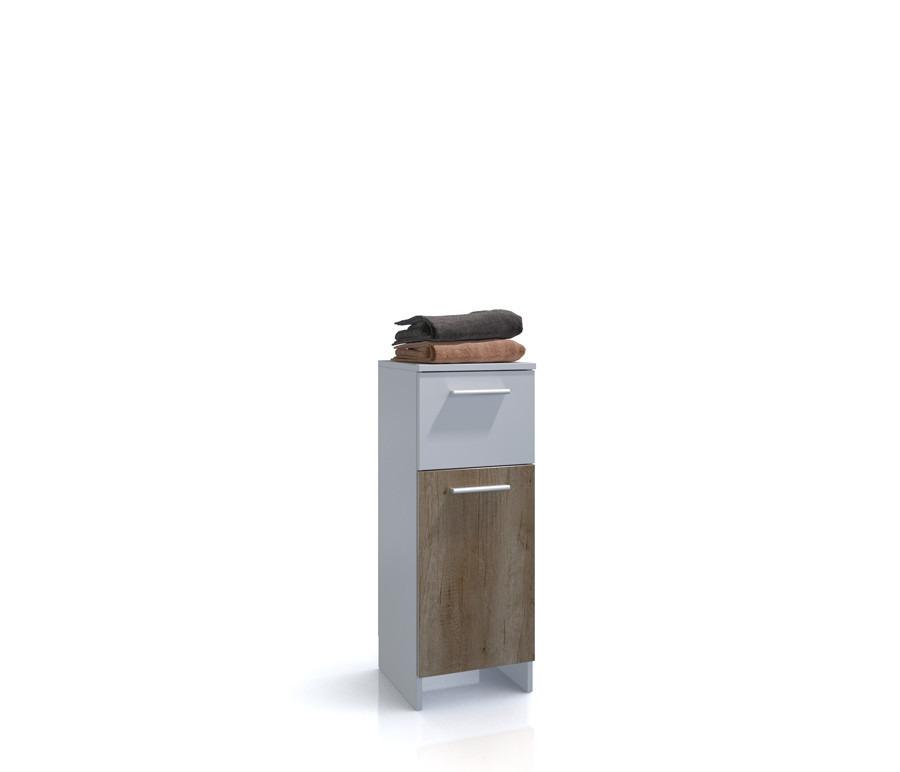 Электра СВ-915 тумбаТумбы для ванной<br><br><br>Длина мм: 333<br>Высота мм: 838<br>Глубина мм: 315<br>Цвет: Белый/Дуб небраско