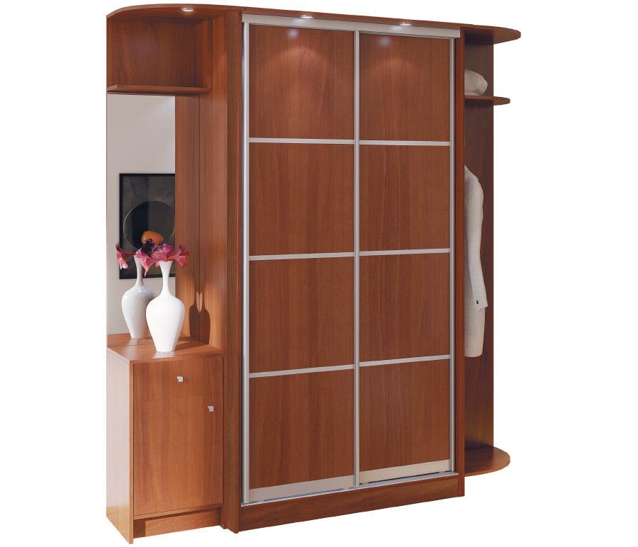 Шкаф 2-х дверный СБ-1086БП Яблоня шкаф для одежды 2 х дверный арт