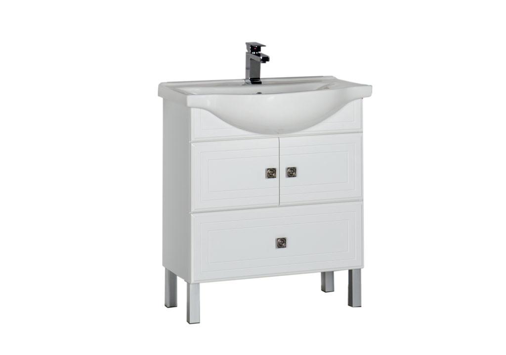 Тумба Aquanet Стайл 75 белый (2 дверцы 1 ящик)Тумбы с раковиной для ванны<br><br><br>Длина мм: 0<br>Высота мм: 0<br>Глубина мм: 0<br>Цвет: Белый Глянец