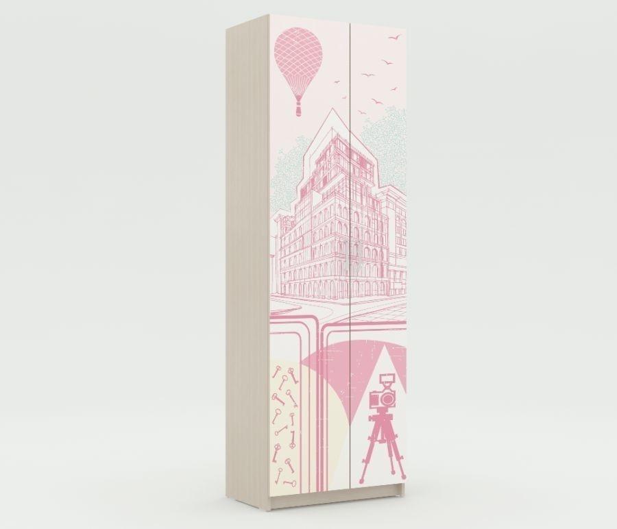 Шкаф платяной с одной штангой Юна 401Мебель для детской<br><br><br>Длина мм: 700<br>Высота мм: 2110<br>Глубина мм: 420