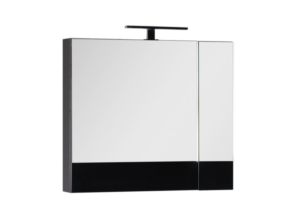 Зеркало Aquanet Нота 75 черныйЗеркало- шкаф для ванной<br><br><br>Длина мм: 0<br>Высота мм: 0<br>Глубина мм: 0<br>Цвет: Чёрный глянец