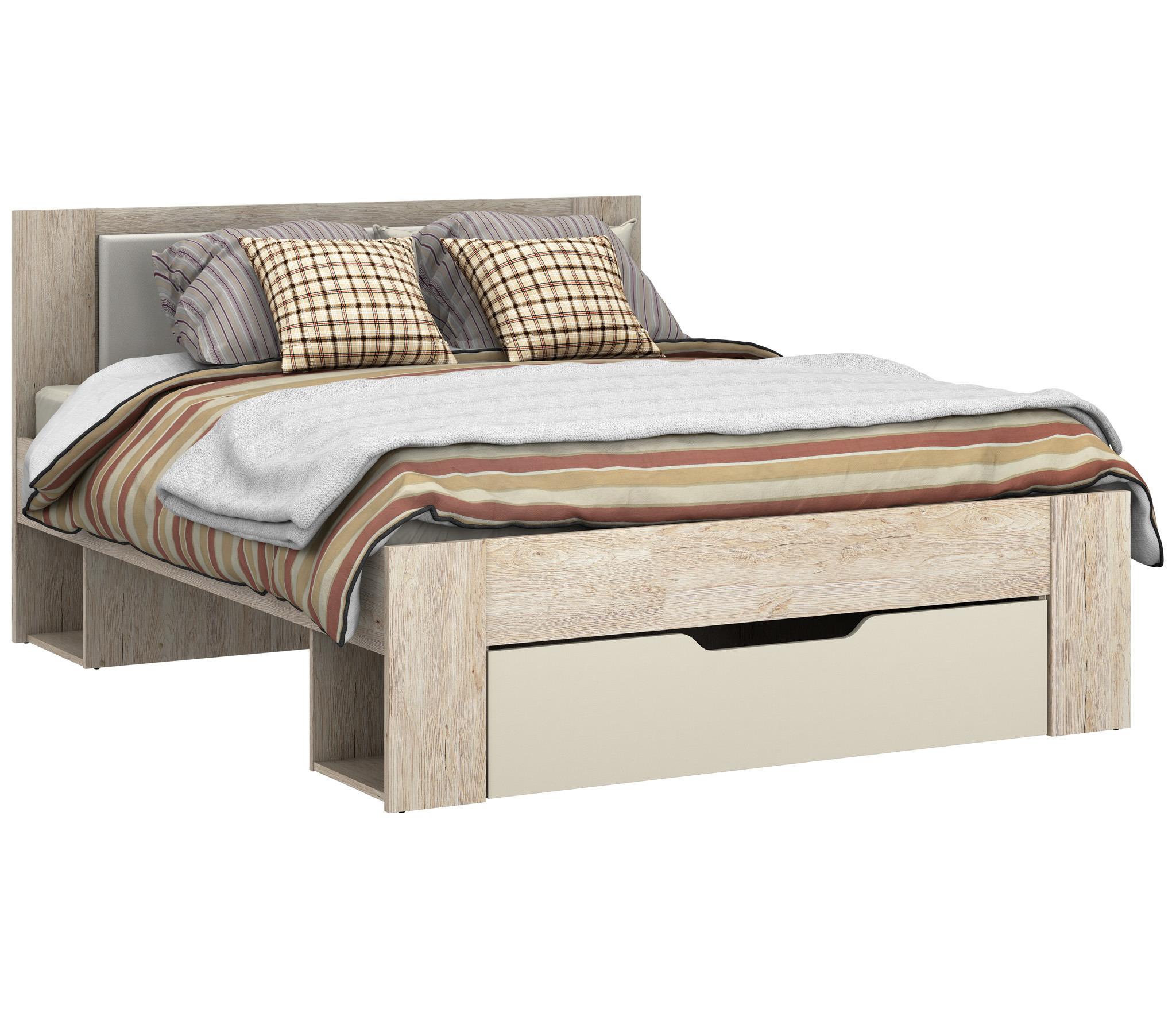 Милано СБ-2324 Кровать 1600Кровати<br>Матрас приобретается отдельно.<br><br>Длина мм: 1660<br>Высота мм: 1004<br>Глубина мм: 2056