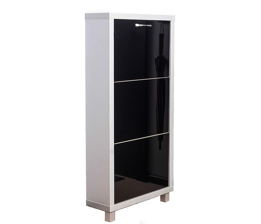 Шкаф обувной Люкс стекло черное 3СОбувницы<br><br><br>Длина мм: 545<br>Высота мм: 1070<br>Глубина мм: 190<br>Цвет: Серебро