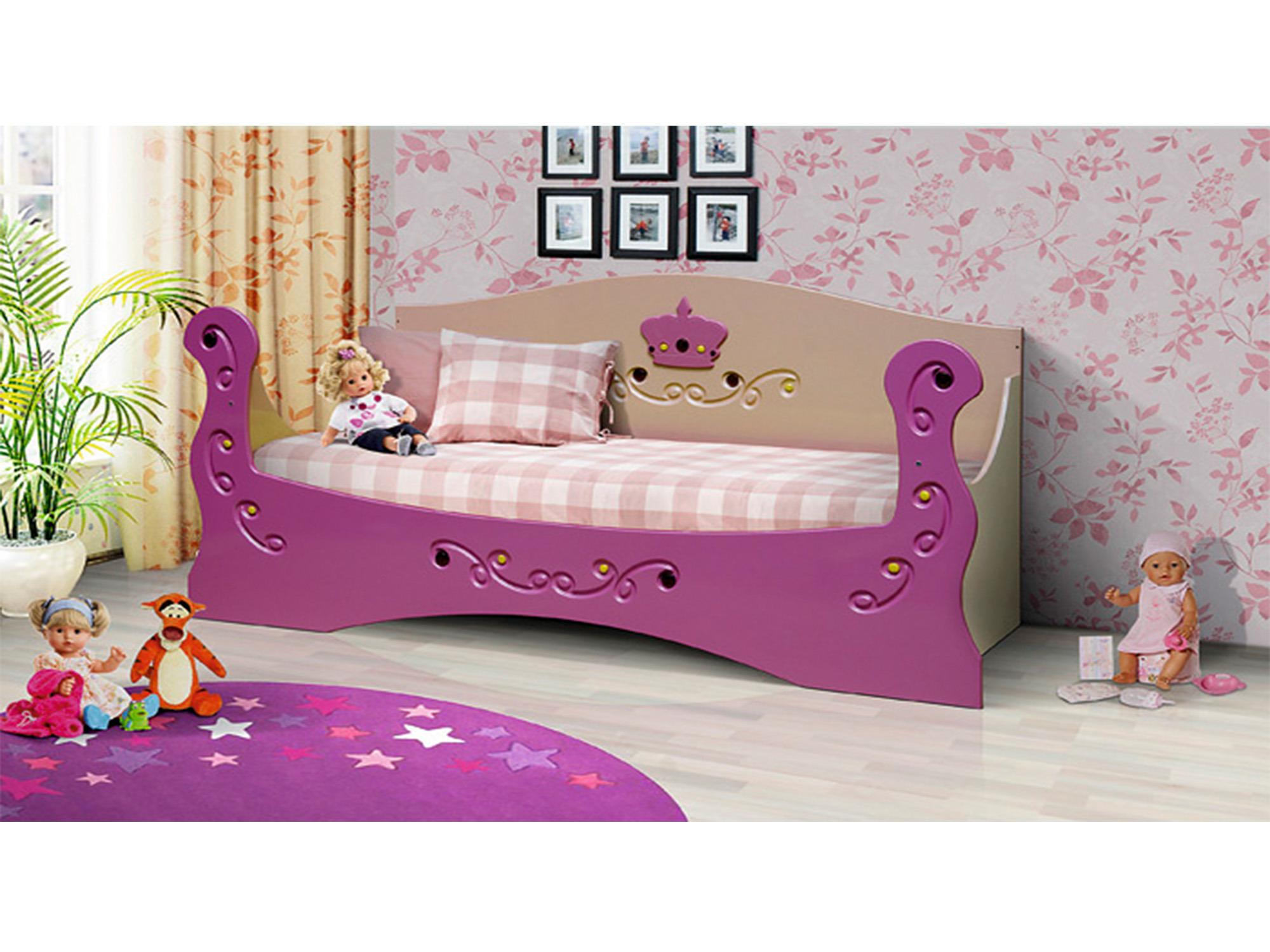 Кровать КоролеваДетские кровати<br><br><br>Длина мм: 1990<br>Высота мм: 930<br>Глубина мм: 840
