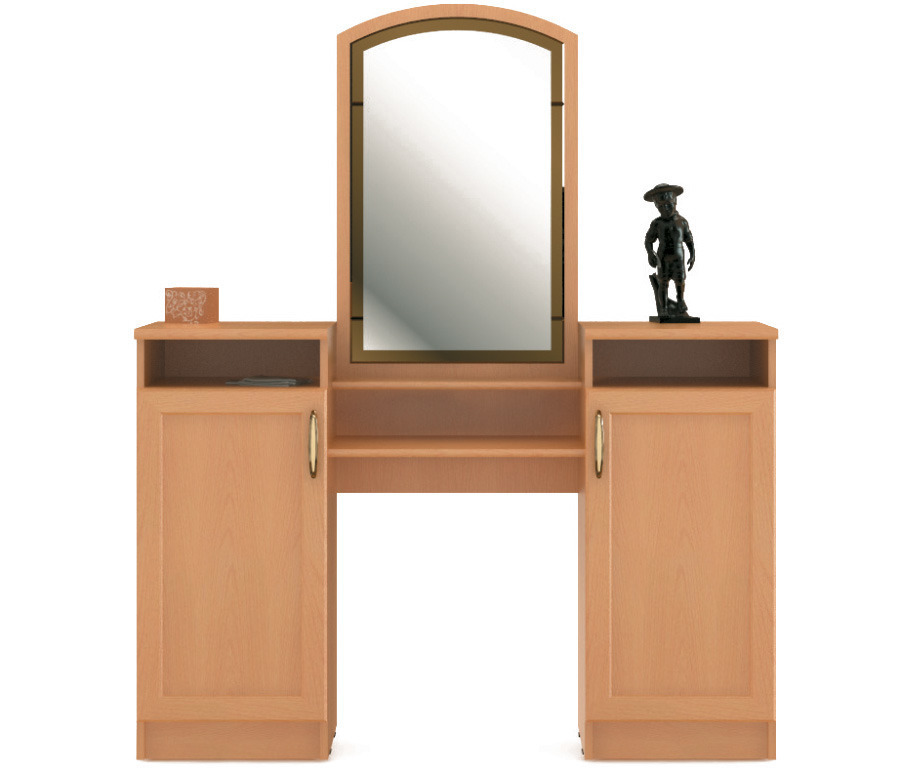 Симба СР-59 Стол туалетныйТуалетные столики<br>Удобный туалетный столик с двумя шкафчиками.<br><br>Длина мм: 1333<br>Высота мм: 1607<br>Глубина мм: 380