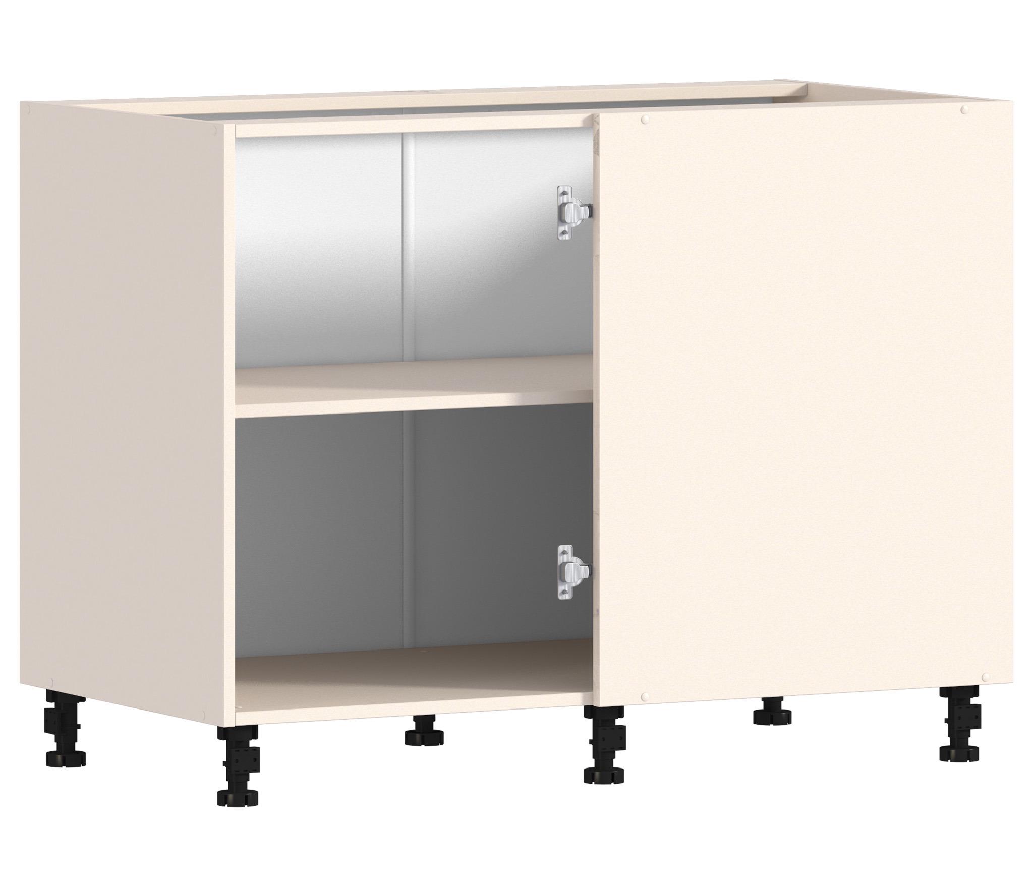 Регина РСП-100 Шкаф-Стол угловой (правый/левый)Мебель для кухни<br>Корпус для практичного углового шкафа.<br><br>Длина мм: 1087<br>Высота мм: 820<br>Глубина мм: 563