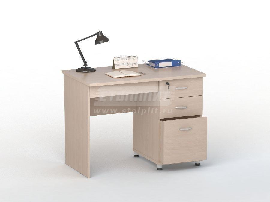 Стол письменный ПС 4003Письменные столы<br><br><br>Длина мм: 1000<br>Высота мм: 770<br>Глубина мм: 600