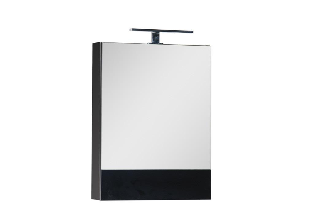 Зеркало Aquanet Нота 50 черныйЗеркало- шкаф для ванной<br><br><br>Длина мм: 0<br>Высота мм: 0<br>Глубина мм: 0<br>Цвет: Чёрный глянец