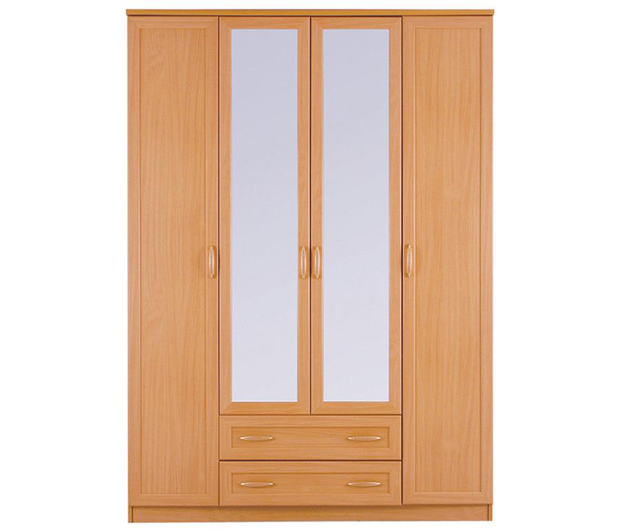 Симба СР-36 Шкаф 4-х дверный с зеркаломШкафы<br><br><br>Длина мм: 1600<br>Высота мм: 2235<br>Глубина мм: 590