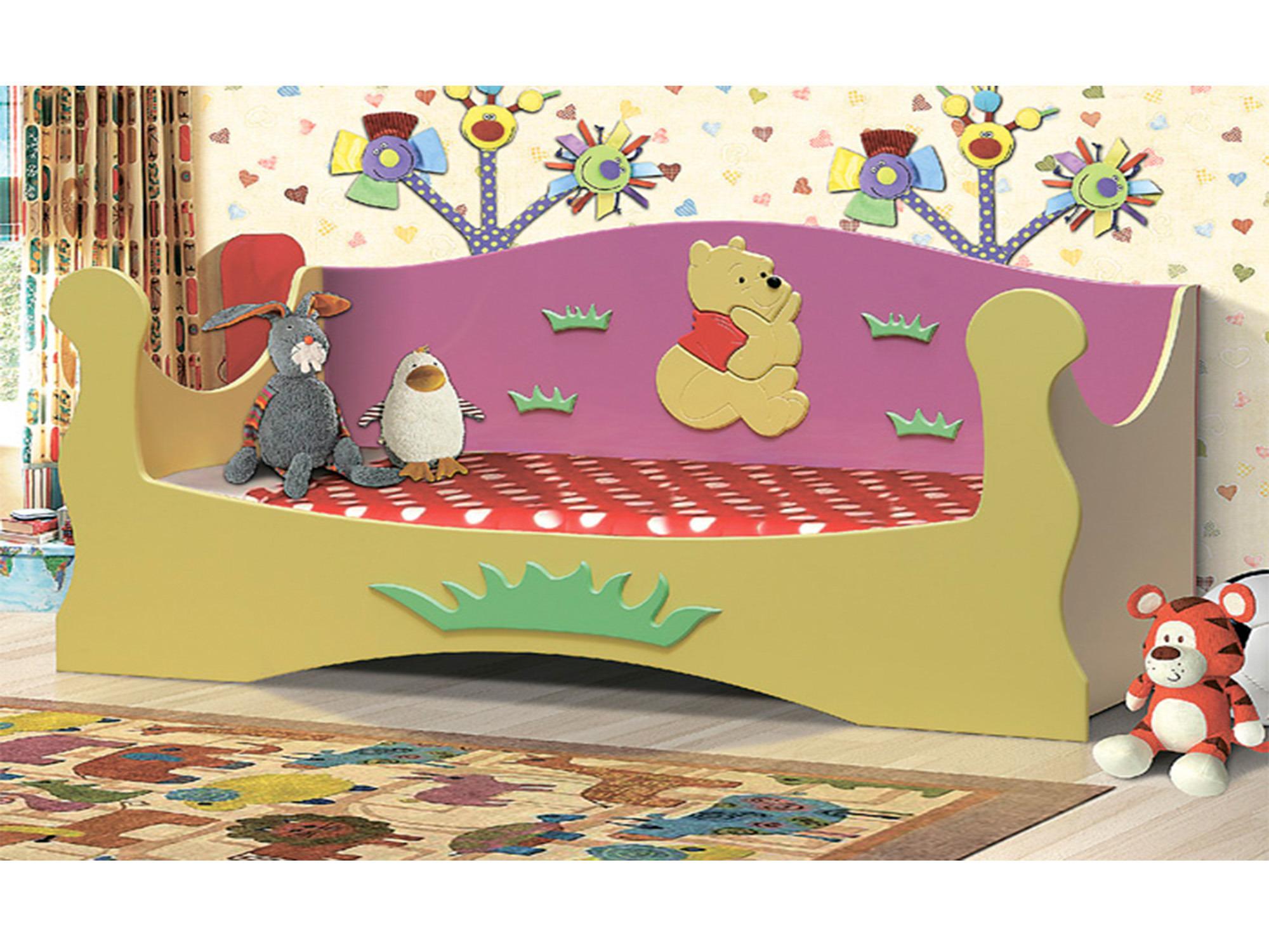 Кровать МедвежонокДетские кровати<br><br><br>Длина мм: 1990<br>Высота мм: 930<br>Глубина мм: 840
