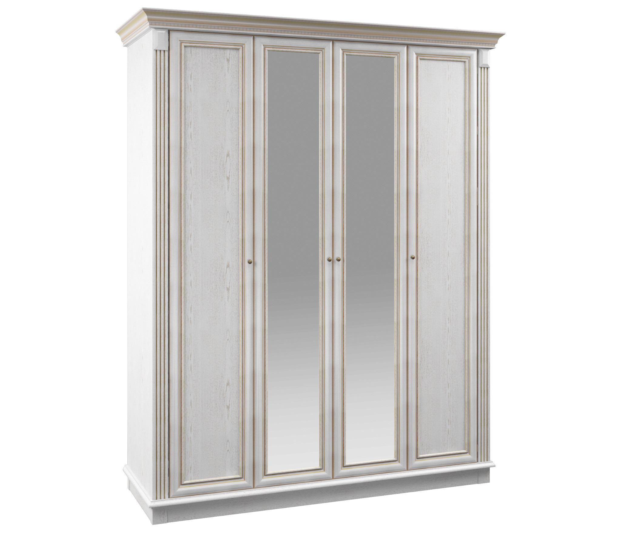 Версаль СБ-2051 Шкаф 4-х дверный с зеркалами