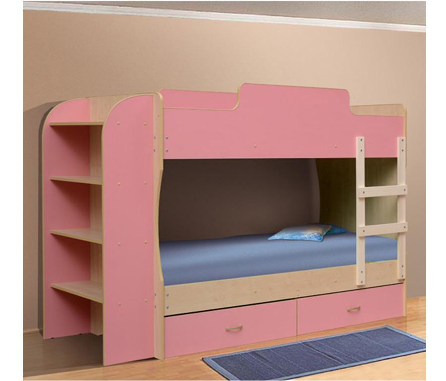 Кровать двухъярусная-1Детские кровати<br><br><br>Длина мм: 2242<br>Высота мм: 1360<br>Глубина мм: 852