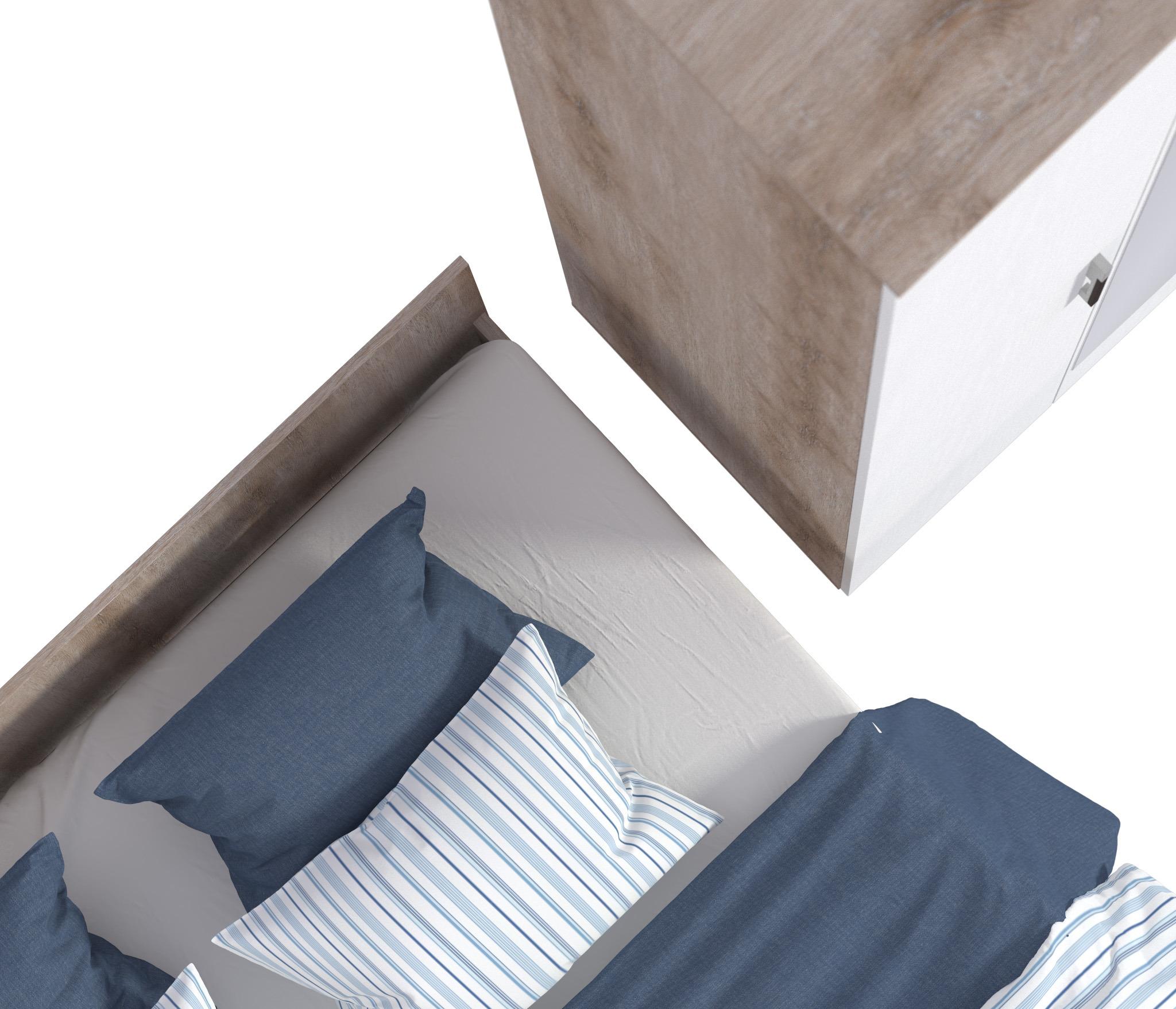 Карина СБ-1803-1 Кровать Sacramento Oak от Столплит