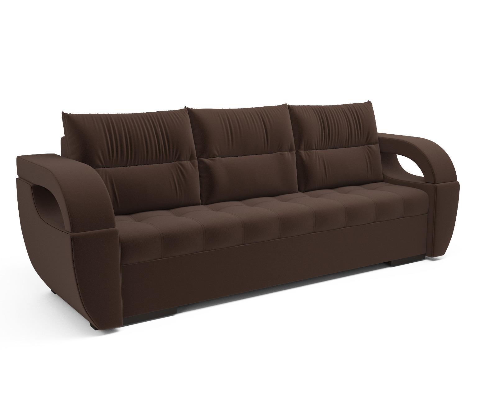 Прямой диван Мартинес (кордрой коричневый)