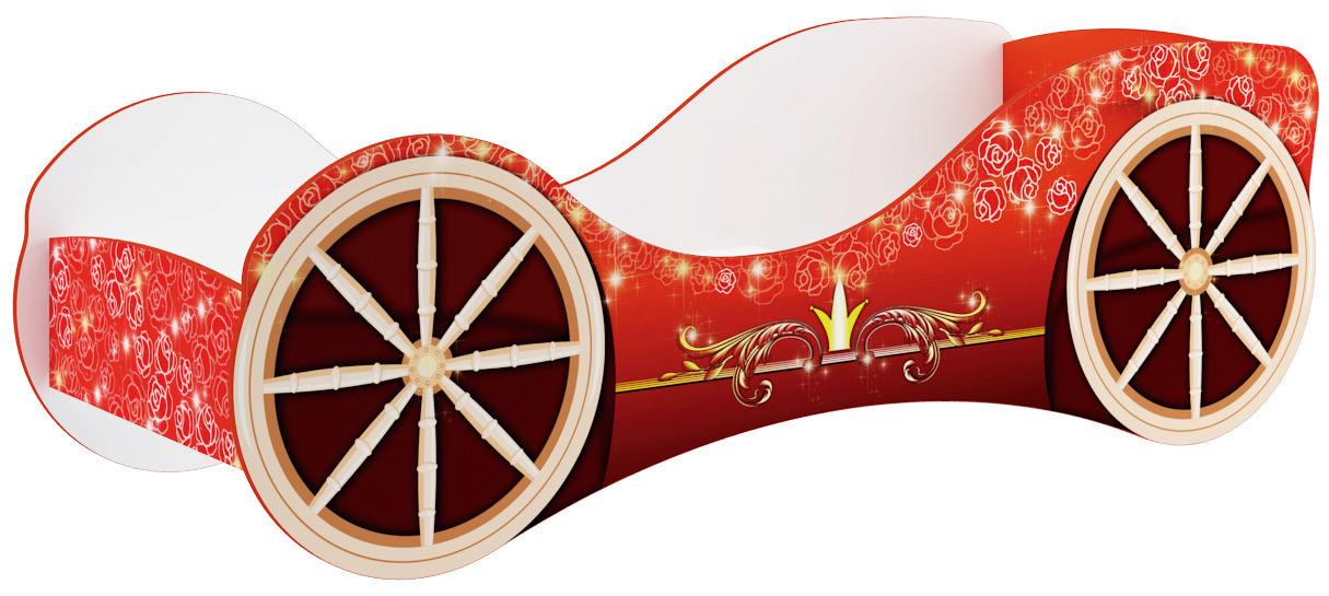 Кровать для детской КР-8 ПринцессаКровати одноярусные<br><br><br>Длина мм: 830<br>Высота мм: 700<br>Глубина мм: 2130