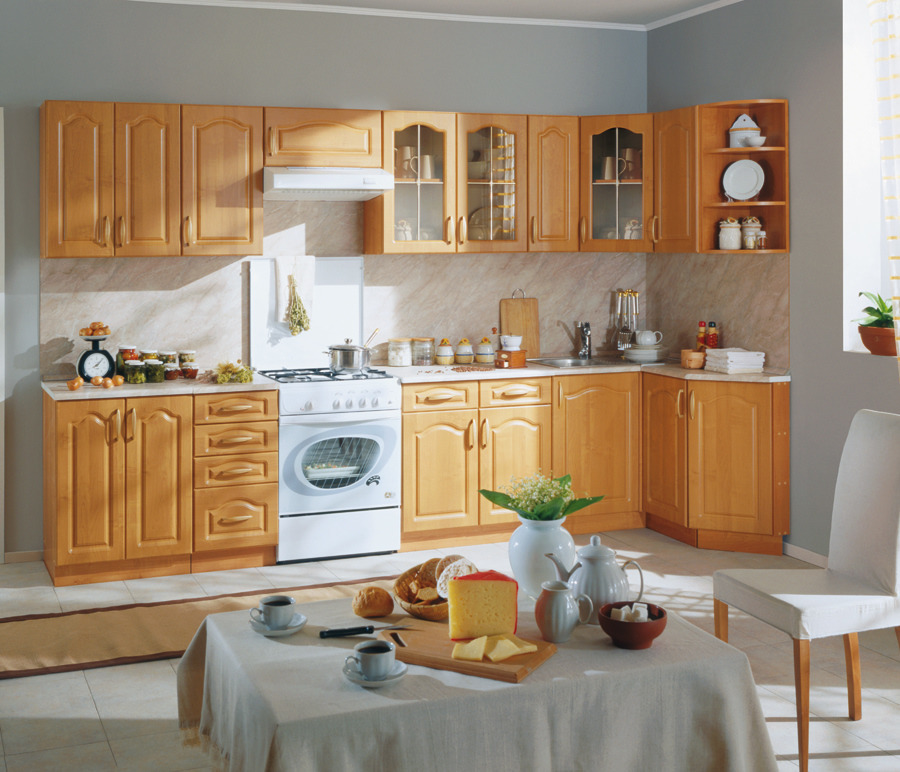 Оля Кухонный гарнитур Экспозиция 31Кухонные гарнитуры<br><br><br>Длина мм: 3190<br>Высота мм: 1415<br>Глубина мм: 0