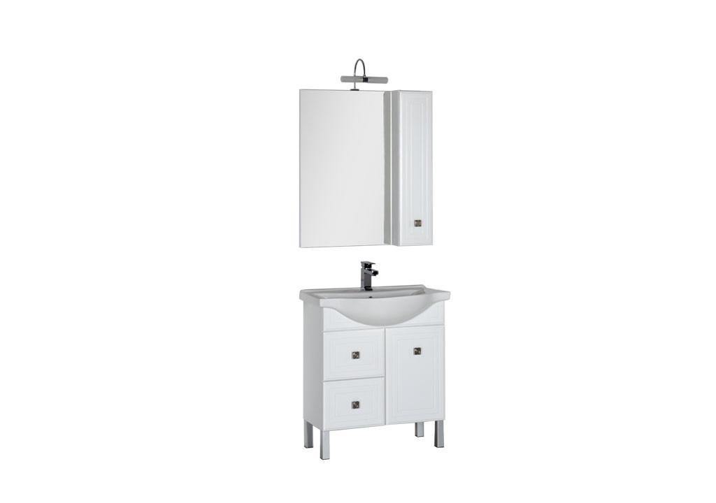 Комплект мебели Aquanet Стайл 75 белый (1 дверца 2 ящика)Комплекты мебели для ванной<br><br><br>Длина мм: 0<br>Высота мм: 0<br>Глубина мм: 0<br>Цвет: Белый