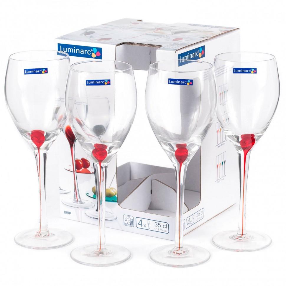 Набор бокалов для вина Luminarc Drip Rouge 350 мл 4 шт