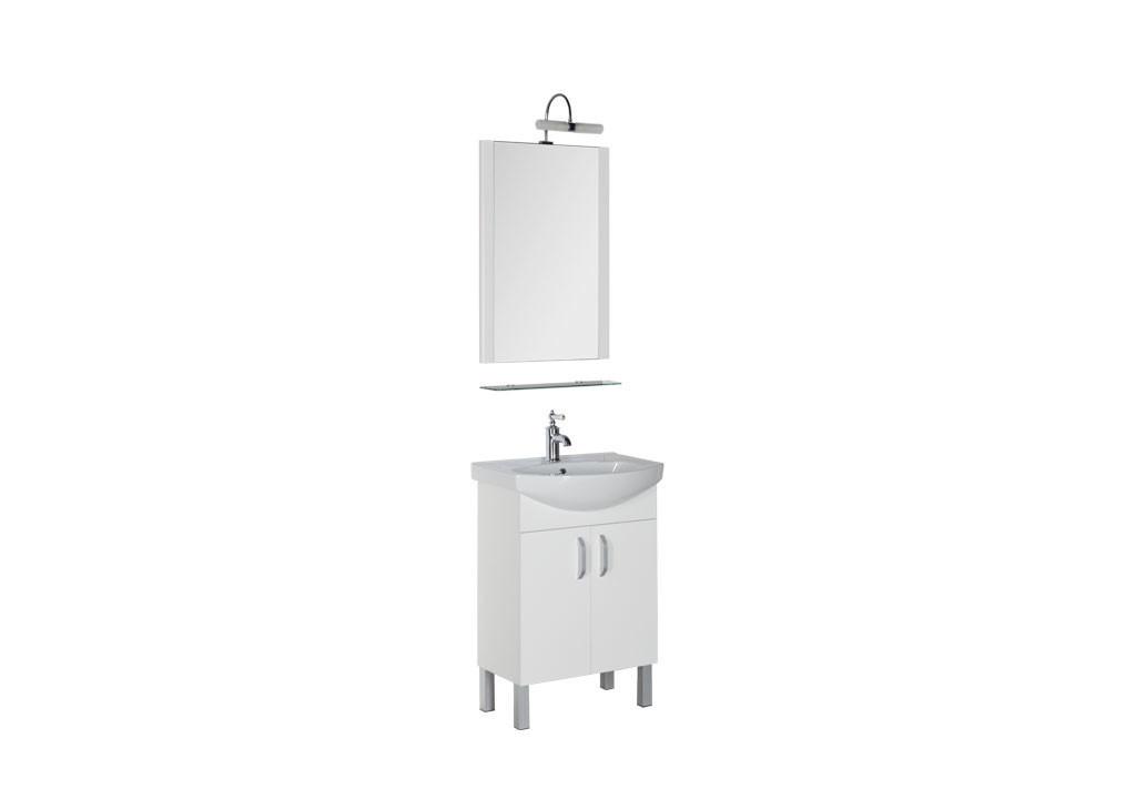 Комплект мебели Aquanet Алькона 60 белый (2 дверцы)Комплекты мебели для ванной<br><br><br>Длина мм: 0<br>Высота мм: 0<br>Глубина мм: 0<br>Цвет: Белый