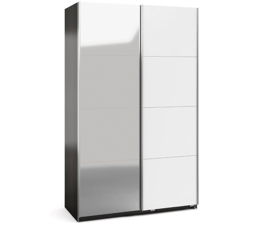 Палермо (СБ-1734*2) дуб феррара/белый глянец/зеркалоШкафы-купе<br>Шкаф Палермо(СБ-1734*2) - отличный образец стильного шкафа-купе, который подходит для настоящих ценителей красивой мебели.<br><br>Длина мм: 1800<br>Высота мм: 2224<br>Глубина мм: 554