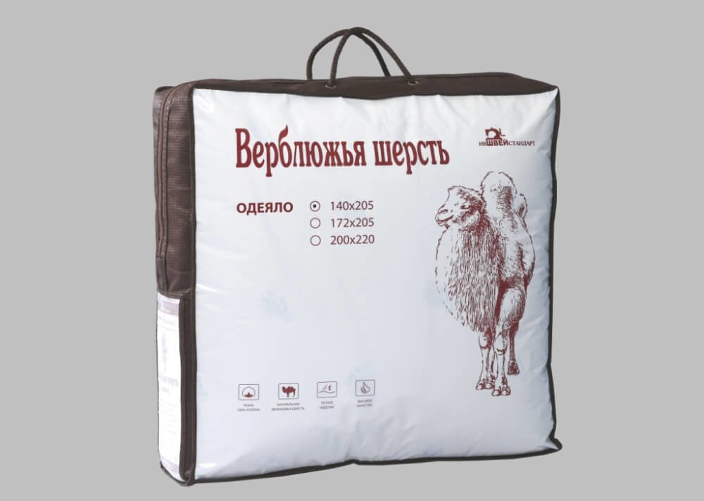 Фото - Одеяло евростандарт 200*220 (Верблюжья шерсть) одеяло верблюжья шерсть тик с кантом 172х205 см