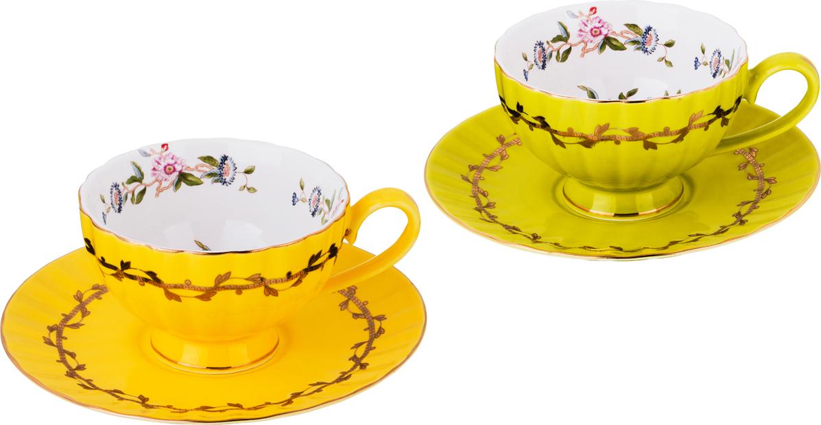 набор чайный best home porcelain indigo 200 мл 4 предмета Чайный набор 4 предмета