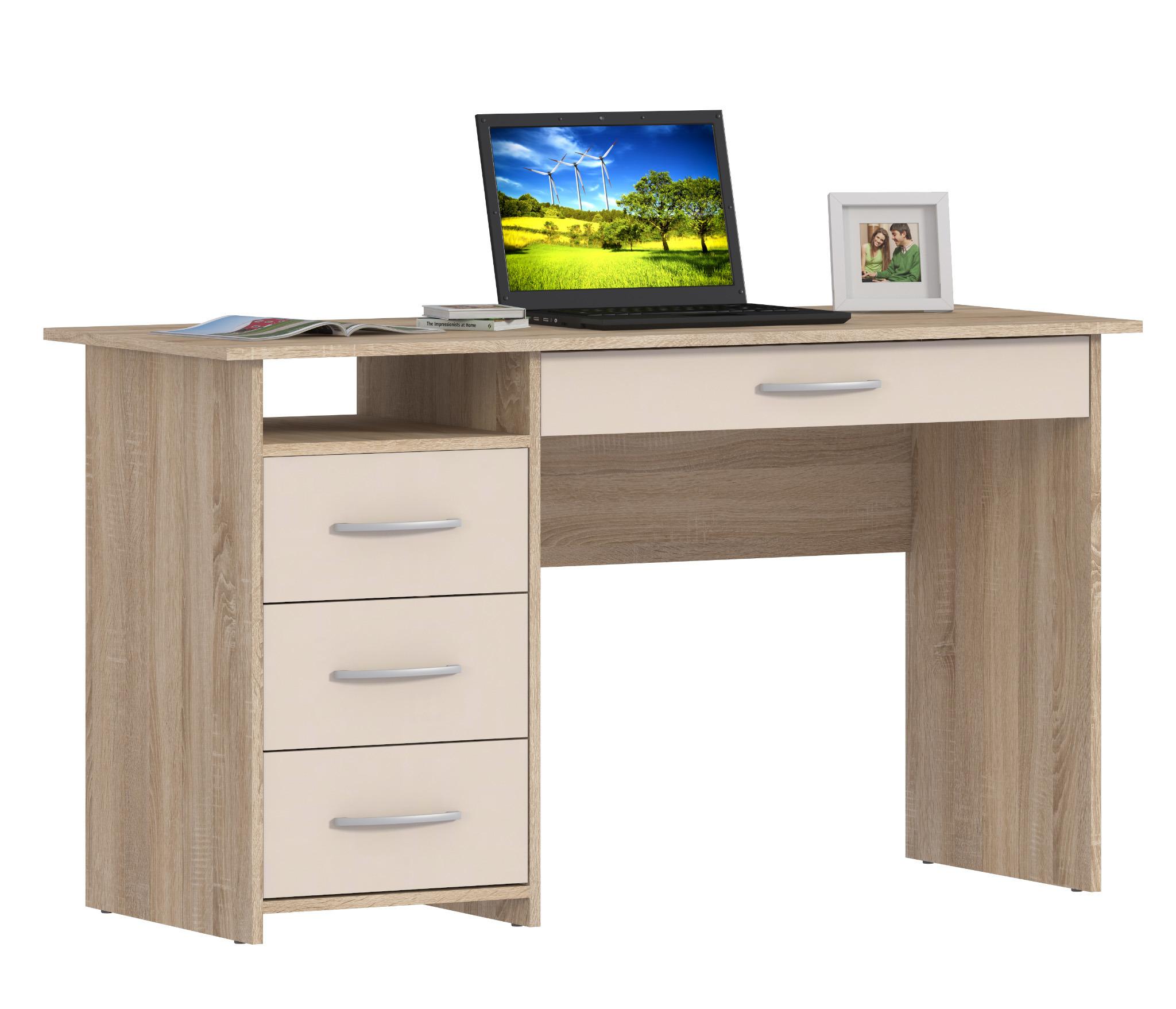Дионис СБ-2453 СтолПисьменные столы<br><br><br>Длина мм: 1400<br>Высота мм: 785<br>Глубина мм: 554
