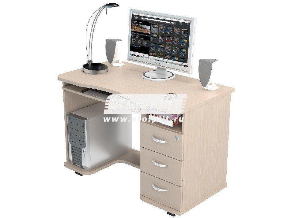 Стол компьютерный КС 2040Компьютерные столы<br><br><br>Длина мм: 1100<br>Высота мм: 770<br>Глубина мм: 600<br>Цвет: Дуб молочный