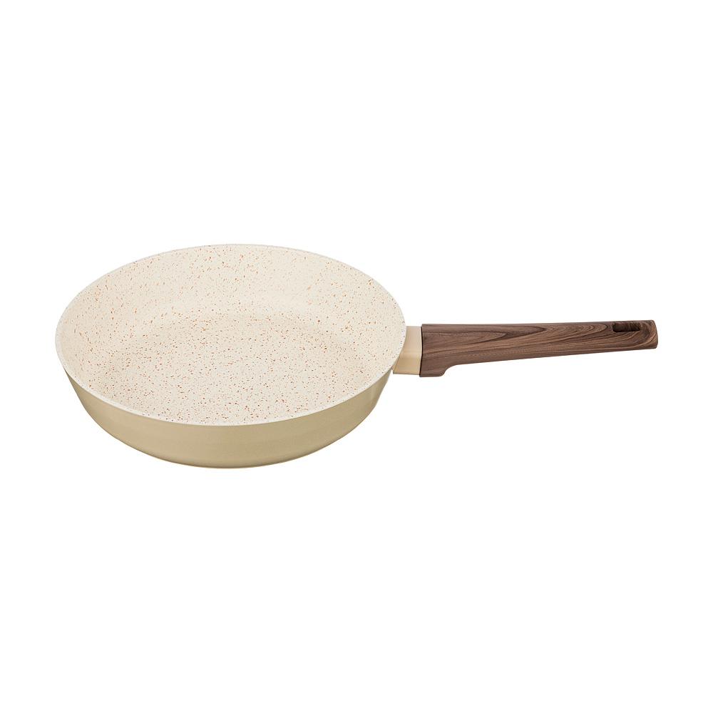 Сковорода с антипригарным покрытием, 24 см сковорода d 24 см kukmara кофейный мрамор смки240а