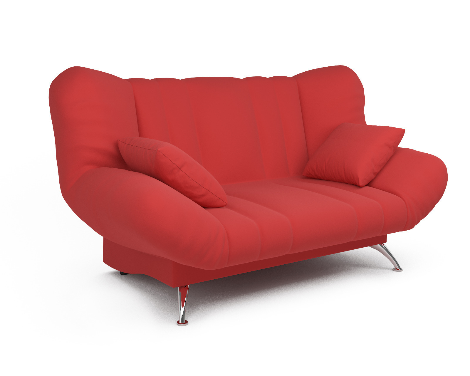 Прямой диван Голд (красный) фото