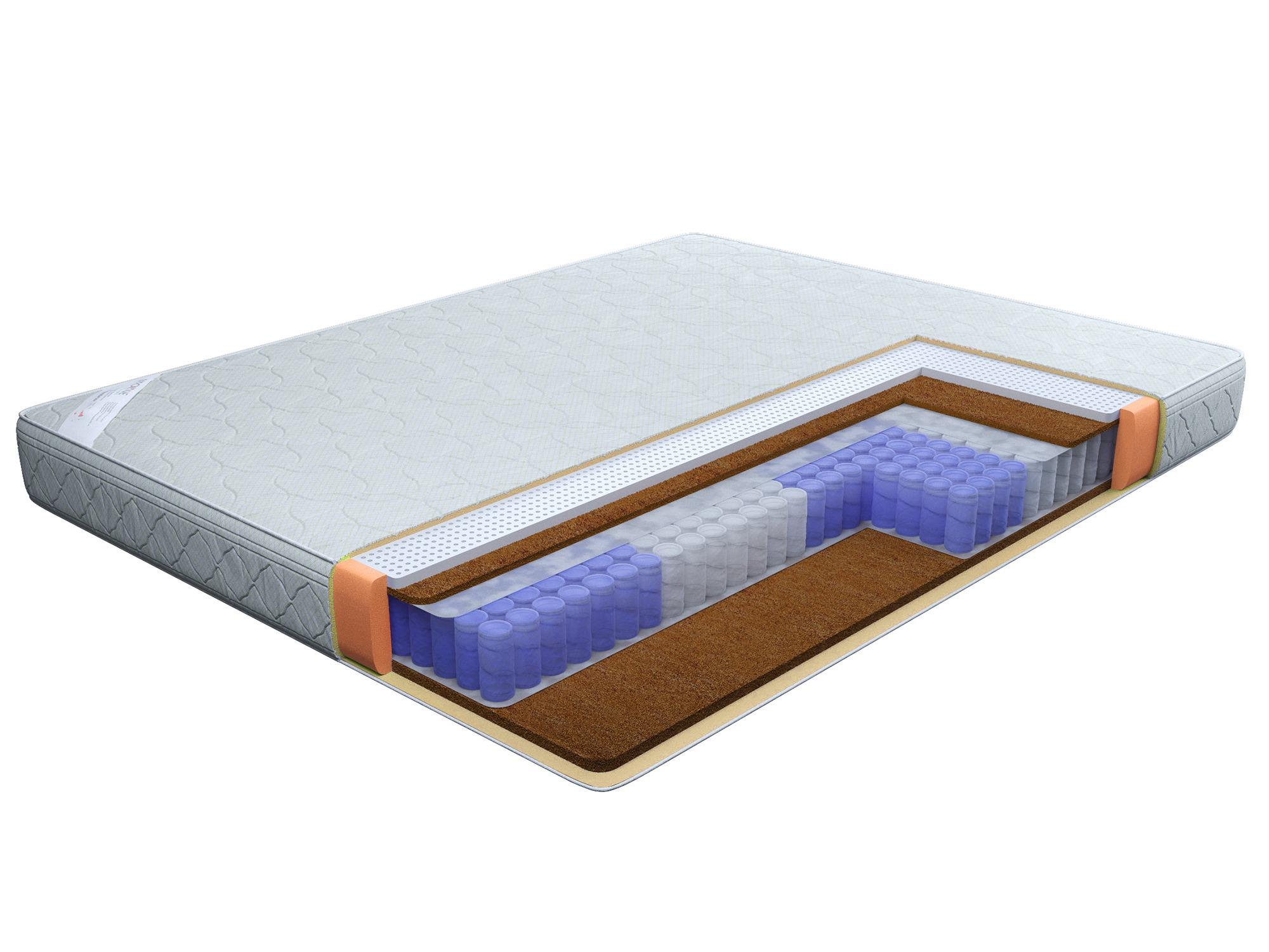 Матрас Премиум-Афродита 1200*2000Мебель для спальни<br>Ортопедический матрас с различной жесткостью сторон на основе блока независимых пружин. Верхняя жесткая сторона содержит кокосовую плиту и волокна сизаля. Волокна сизаля не проводят статическое электричество, предохраняя от ощущения жары и влажности. Нижняя мягкая сторона содержит койру и натуральный латекс- 100% натуральный материал, обладающий антистатическим действием. &#13;Габаритные размеры (ШхВхГ): от 800 x 180-220 x от 1900 мм &#13;Высота: 19-20;&#13;Периметр: пенополиуретан;&#13;Основа: блок независимых пружин (Pocket spring);&#13;Чехол: трикотаж хлопковый, стеганный на ППУ;&#13;Наполнитель: кокосовая койра, настил сизаля, натуральный латекс;&#13;Макс. нагрузка на 1 спальное место: до 120 кг.<br><br>Длина мм: 1200<br>Высота мм: 180<br>Глубина мм: 2000<br>Длина матраса: 2000<br>Ширина матраса: 1200<br>Высота матраса: 200<br>Жесткость матраса: Средняя - Высокая<br>Тип матраса: блок независимых пружин