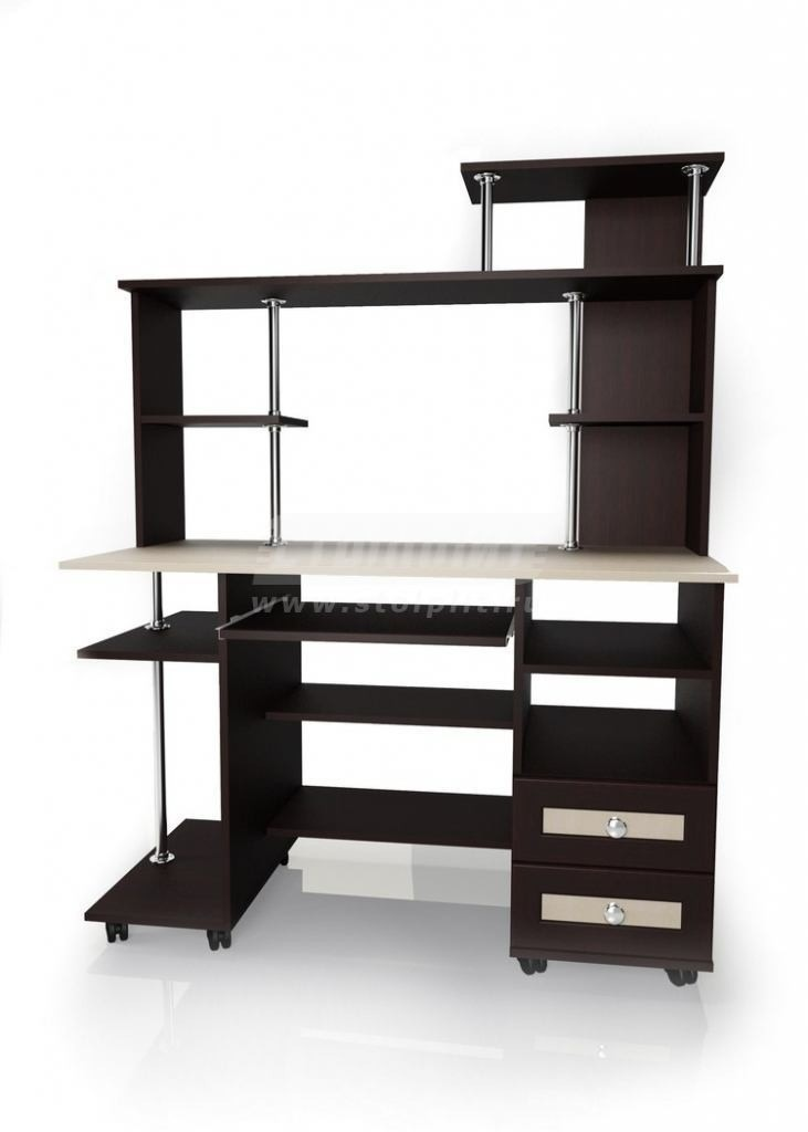 Стол для компьютера МБ – 24Кабинет<br><br><br>Длина мм: 1200<br>Высота мм: 1525<br>Глубина мм: 600