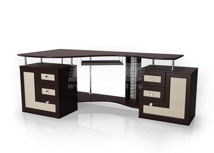 Стол для компьютера МБ – 8Компьютерные столы<br><br><br>Длина мм: 2055<br>Высота мм: 756<br>Глубина мм: 960