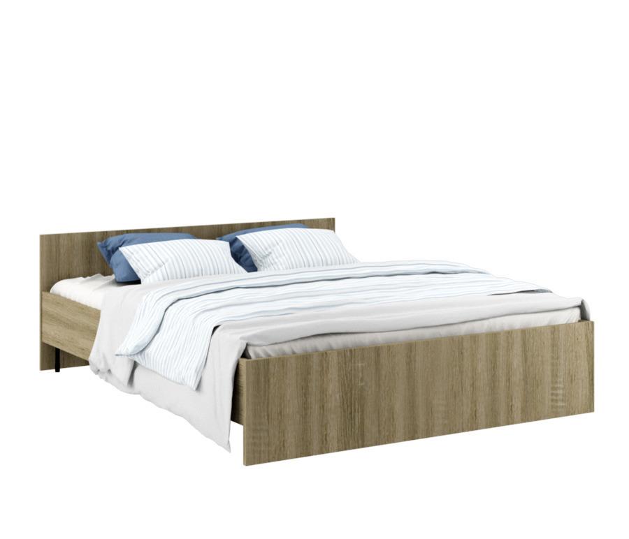 Карина СБ-1803-1 Кровать Дуб Сонома ТрюфельКровати<br><br><br>Длина мм: 1662<br>Высота мм: 650<br>Глубина мм: 2050