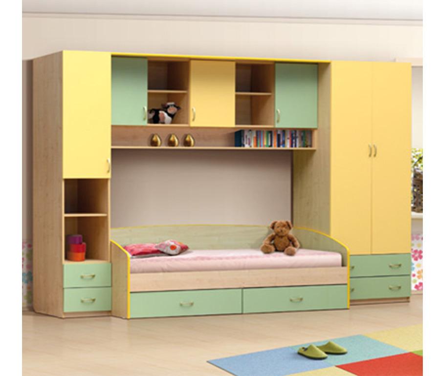 Набор мебели Школьник-2-1Детские комнаты<br><br><br>Длина мм: 3200<br>Высота мм: 2200<br>Глубина мм: 850