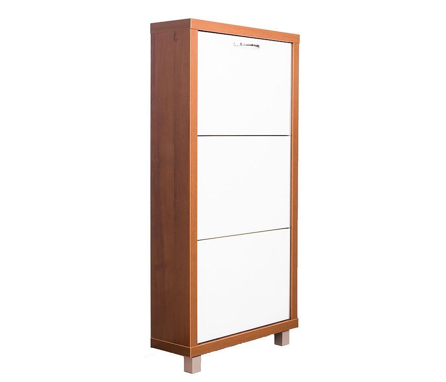 Шкаф обувной Люкс стекло белое  3С