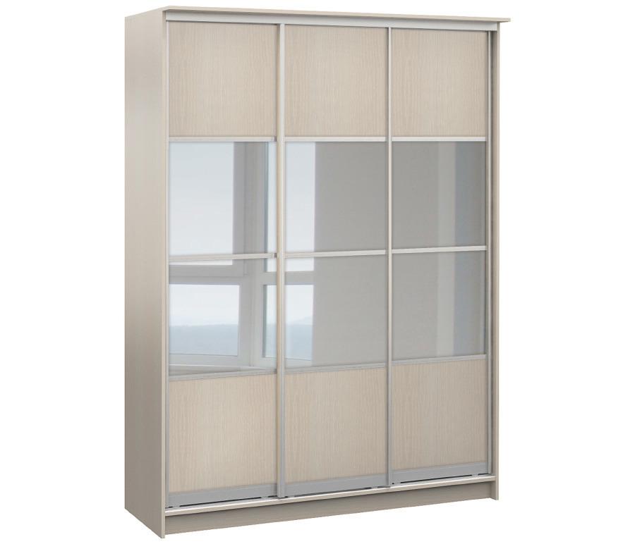 Шкаф 3-х дверный СБ-1087БП Дуб МолочныйШкафы<br><br><br>Длина мм: 1774<br>Высота мм: 2420<br>Глубина мм: 544