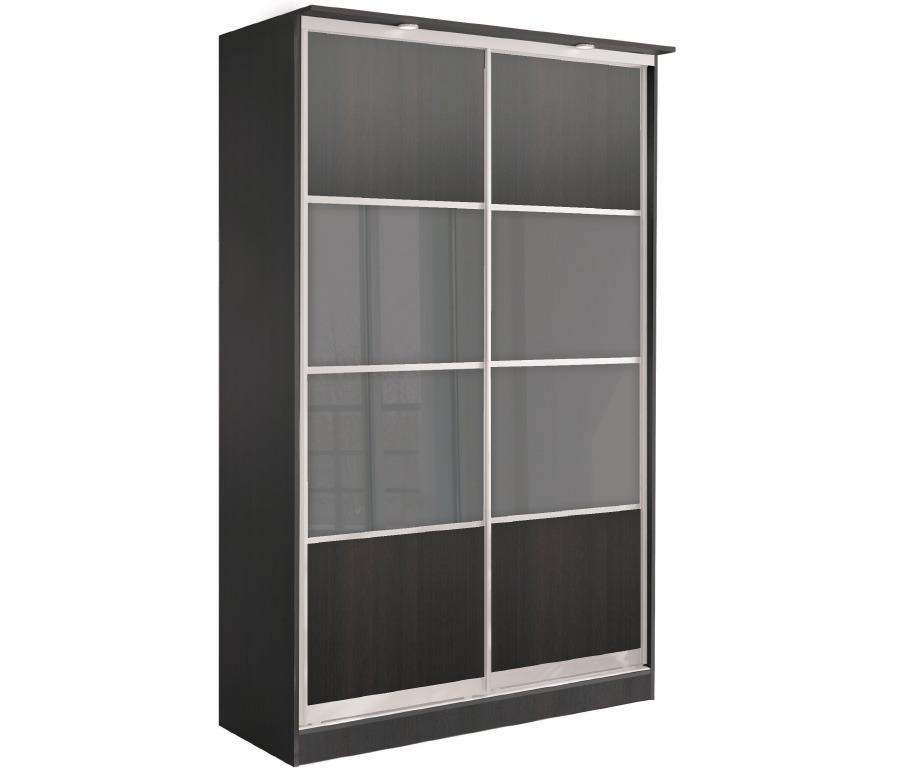 Шкаф 2-х дверный СБ-1083БП Дуб Феррара+ встав Дуб Феррара+встав стекло сатин/сереброШкафы<br><br><br>Длина мм: 1495<br>Высота мм: 2420<br>Глубина мм: 704