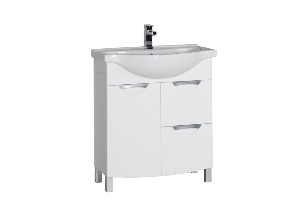 Тумба Aquanet Асти 75 б\к белыйТумбы с раковиной для ванны<br><br><br>Длина мм: 0<br>Высота мм: 0<br>Глубина мм: 0<br>Цвет: Белый Глянец